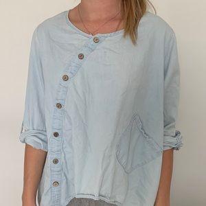 light denim blouse